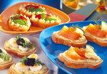 Baguette-Schnitten mit Lachs