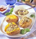 Ofenkartoffeln mit hausgemachter Tomatenbutter