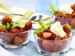 Süße Erdbeeren mit Brunchcreme