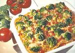 Sphagetti mit Gemüse und gratiniert