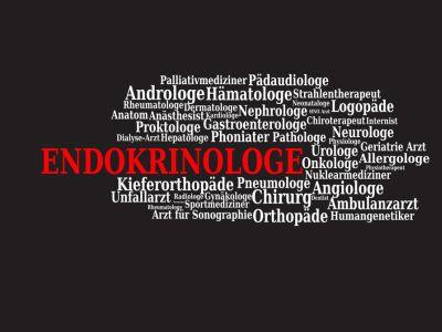 Verschiedene Fachärzte, Endokrinologe ist rot hervorgehoben.