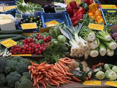Gut für Leber und Galle: Gemüse vom Markt