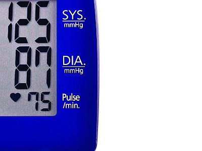 Blutdruckmessgerät in Großaufnahmen.