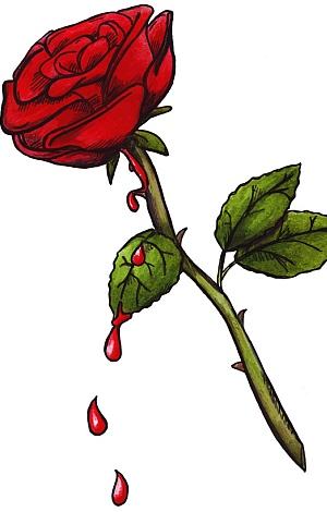 Tattoovorlage einer Rose