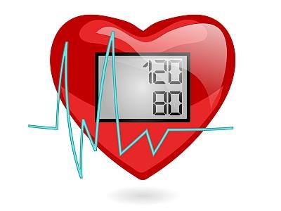 Herz mit idealem Blutdruck