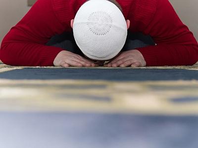 Ein betender Moslem.