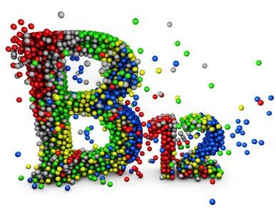 Vitamin B 12 mit bunten Kugeln dargestellt.