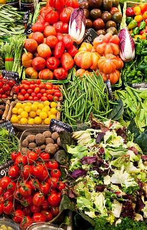 Gemüse auf dem Markt.