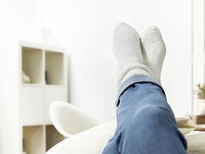 Nach der Arbeit die Beine hochlegen.