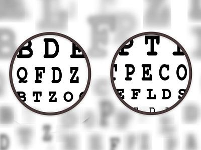 Sehtest Buchstaben mit vergrößerung