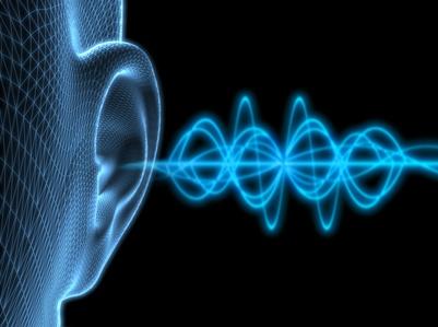 Ohr mit Schallgeräusch