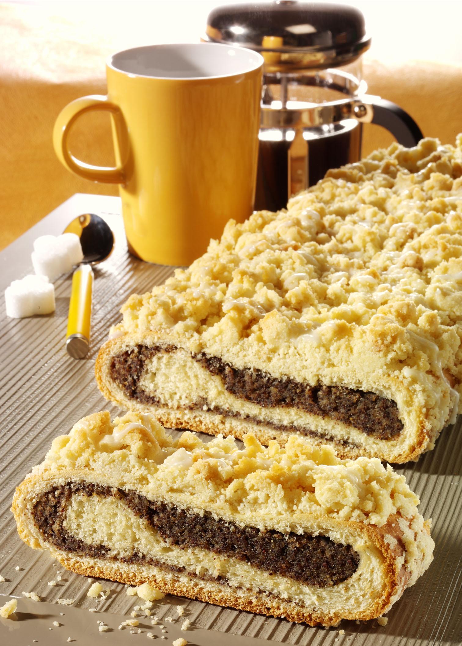 Ein leckerer Mohnkuchen mit Streusel
