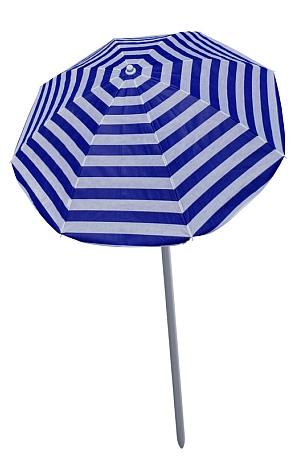 Blau-weißer Sonnenschirm