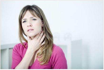 Halsschmerz ist häufig das erste Anzeichen einer Erkältung