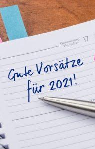 Auch für 2021 fassen die Deutschen Neujahrsvorsätze